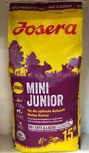 Josera Mini Junior 15kg Bruch + Geschenk