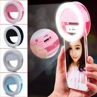 Selfie lumière LED Éclat d'Anneau Remplir Clip Caméra pour iPhone & Tablette