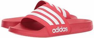 Man Adidas NEO CF Adilette Slide Sandal AQ1705 Color Scarlet/White/Scarlet New