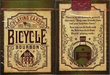 Bourbon Bicycle Playing Cards Poker Size Deck USPCC Custom Limited Edition New