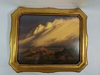 Vintage Wood Frame 12.5 X 10.5 for 8 X 10 Picture Gilt Gold Leaf w Glass