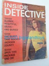 Vintage Magazine Inside Detective Dell March 1968 Blonde Beautiful Buried