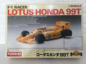 OLD! Very! very Rare Kyosho LOTUS HONDA 99T 1/18 RC F1 Racer from Japan F/S