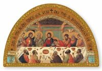 Last Supper Icon Gold Foil Highlights Last Supper Free Standing Plaque