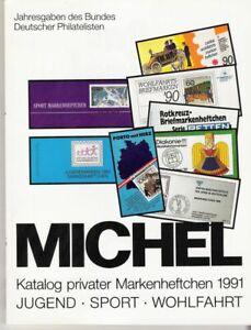 Michel Briefmarken Katalog privater Markenheftchen Jugend Sport Wohlfahrt BDPh