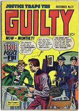 JUSTICE TRAPS THE GUILTY 21 1950 Prize Comics JACK KIRBY art True Police Crime