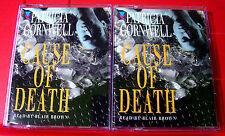 Patricia Cornwell Cause Of Death Kay Scarpetta 4-Tape Audio Book Blair Brown
