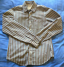 Camicia Hollister Button Down Casual Shirt Sz M Medium Striped Long Sleeve