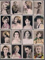 1925 British American Tobacco Cinema Stars Set  Tobacco Cards Lot of 21