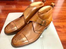RARE MTO💥Edward Green💥Single Monk strap Ankle Boots Calf Men Shoes💥UK 11 F