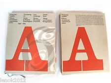 The Lettering Art Font Type Album 1959-1974 USSR Book 1977 Perfect Condition