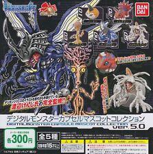 Digimon: Digital Monsters Gashapon Capsule Mascot ver. 5.0 Complete Set (5) JP