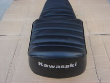 KAWASAKI KZ440 KZ550 REPLACEMENT SEAT COVER WHITE DYED LOGO(K21)