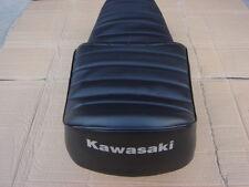 KAWASAKI KZ305 KZ440 KZ550 REPLACEMENT SEAT COVER WHITE DYED LOGO(K21)
