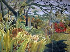 Art Wildlife Landscape Forest Ceramic Mural Backsplash Bath Tile #2273