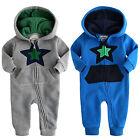 "NWT Vaenait Baby Newborn Boy's Fleece Hoodie Jumpsuit Onepiece ""Lighting Star"""