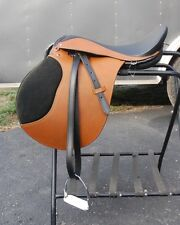 "London Tan  Leather 18"" Draft Horse English Saddle by Ascot"