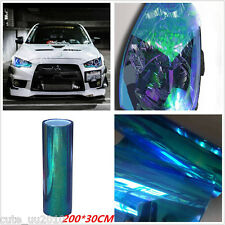 Chameleon Colorful Blue  Car Headlight Fog Light Vinyl Tint Film 200x30CM New