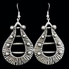 Silver Teardrop Earrings Ottoman Turkish Ethnic Tribal Gypsy Boho Pear Shape