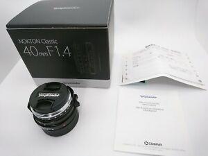 [Unused in Box] Voigtlander Nokton classic S.C 40mm f/1.4 Leica M From Japan B68