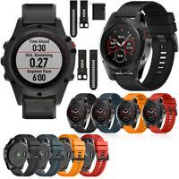 Silikon Uhrenarmband Ersatz Armband für Garmin Fenix 5X/3/3 HR26mm DE