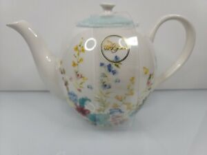 Grace Fine China Teaware Wildflower Teapot 6in Tall