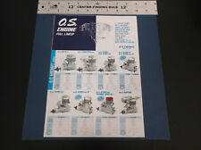 "VINTAGE O.S. MODEL ENGINE POSTER PLANE BOAT CAR HELI  8PG 32""W  X 11.5"" *G-COND*"