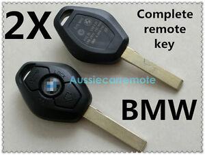 2X TRANSPONDER REMOTE KEYS for BMW 3, 5, 7, Z3, Z4, X3  X5 Z8 with logo