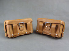 Pair of Repro WW2 German Army Leather Medic Pouches L&R