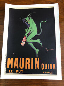 1906 Maurin Quina Le Puy France  Vintage Advertising Poster Canvas New.