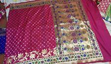 Latest Banarasi Kataan Silk Sarees with PAITHANI Border Pallu For Party Wear