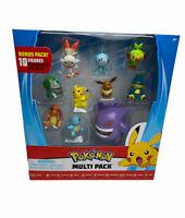 2020 Pokemon Figure Multi Pack Bonus Pack 10 Figures PIKACHU, GENGAR, EEVEE NIB