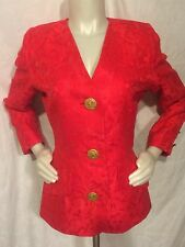 Givenchy Couture Red Brocade Jacket Size S
