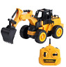 DAZMERS RC REMOTE CONTROL CONSTRUCTION VEHICLES DIGGER LOADER EXCAVATOR TOYS