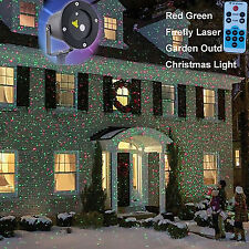 Star Laser Christmas Red/Green Light Shower Night Motion Dancing Color Box on TV