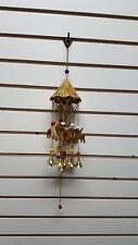 Metal Brass Elephant Bells Chakra Beads Collectible Wind Chime Sun Catcher