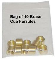Cue Ferrules. Bag of 10 (all sizes available)