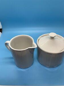 Oneida Symphony White Creamer And Sugar Bowl Set