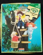 """PLAYSKOOL VINTAGE WOODEN PUZZLE CABBAGE PATCH KIDS """"Clubhouse Fun"""""""