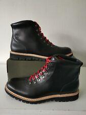 TIMBERLAND BRITTON HILL ALPINE JET BLACK HIKER BOOTS SIZE UK 12.5