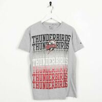 Vintage CHAMPION Thunderbirds Big Logo T Shirt Tee Grey | Small S