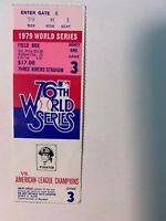 1979 World Series Game 3 Baseball Ticket Stub Pirates vs Orioles GOOD