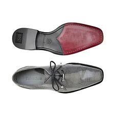 Belvedere Men's Dress Shoes Karmelo Genuine Lizard Gray Comfortable 1497