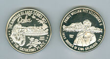 2 Silver .999, 1987 & 1988 Hawaii State Numismatic Assoc. Medals, Total 2.5 OZ