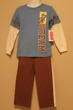 BOYS 3T 2-piece outfit football team NWT pants & t-shirt Fisher-Price