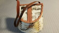 Vintage Fishing Creel Birch Beech Wood Fisherman Basket