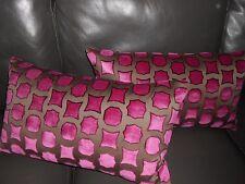 Dedar Milano Throw pillows GEMME geometric cut Velvet fabric Custom new PAIR