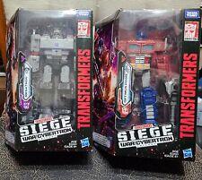 Transformers Siege War For Cybertron OPTIMUS PRIME And MEGATRON - MINT BOXES