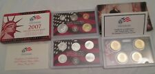 2007 Silver Proof Set U.S. Mint Box and COA 14 coins 5 State Silver Quarters