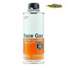 Race Gas Race Fuel Concentrate Fuel Additive 100016; 16oz Octane Booster 105 MAX